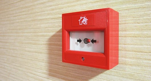 functioning fire alarm