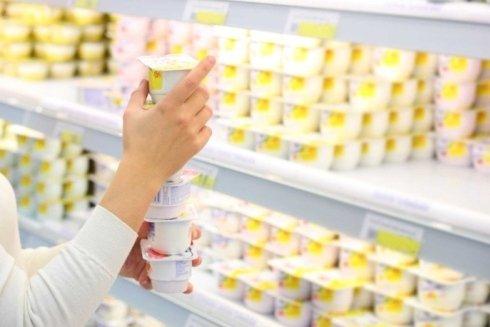 scaffali frigo latticini