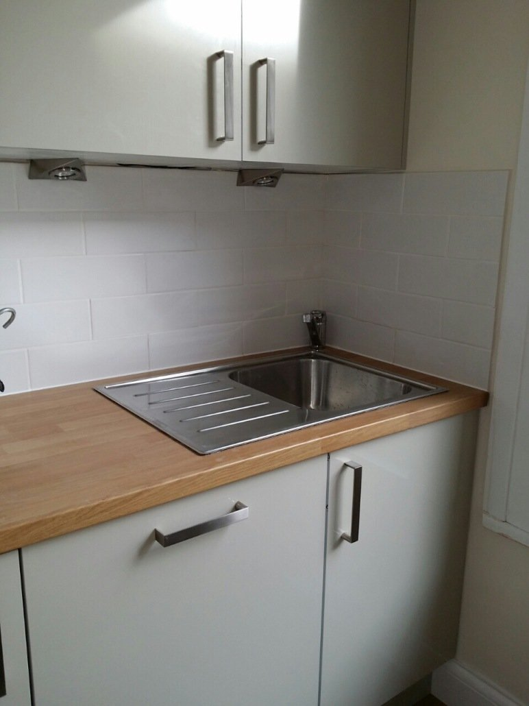 new sink fitted