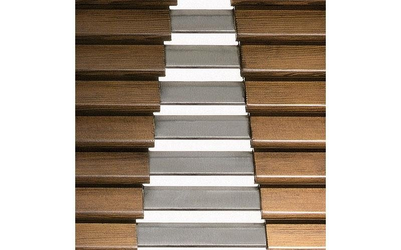 43x12 mm wooden slats with 25x3 mm steel cores