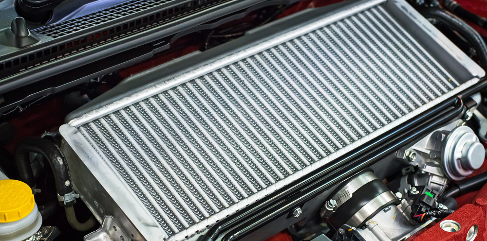 A radiator installed in the automobile for keeping the engine cool in Auckland, NZ