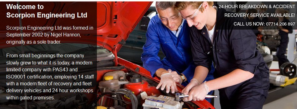 Vehicle repairs, breakdown & delivery services in Swindon -   Scorpion Engineering - Vehicle Repairs1