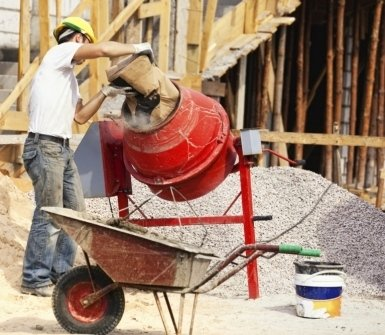 costruzioni edili, betoniera, cemento