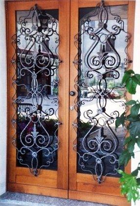 porte in ferro decorato