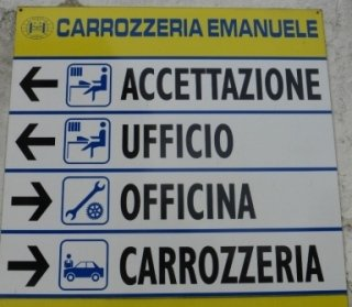 cartello carrozzeria