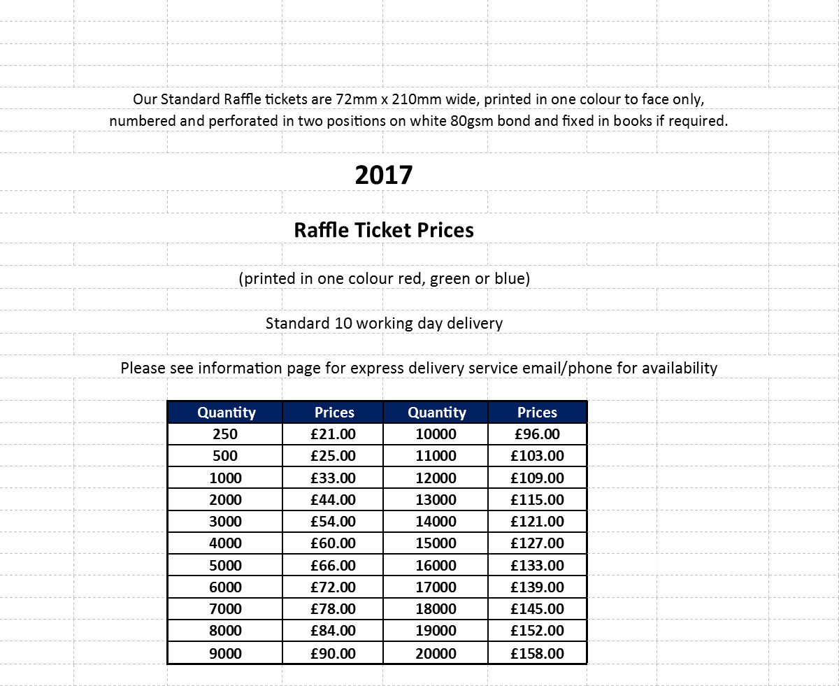 raffle ticket design printing and mailing raffle ticket prices