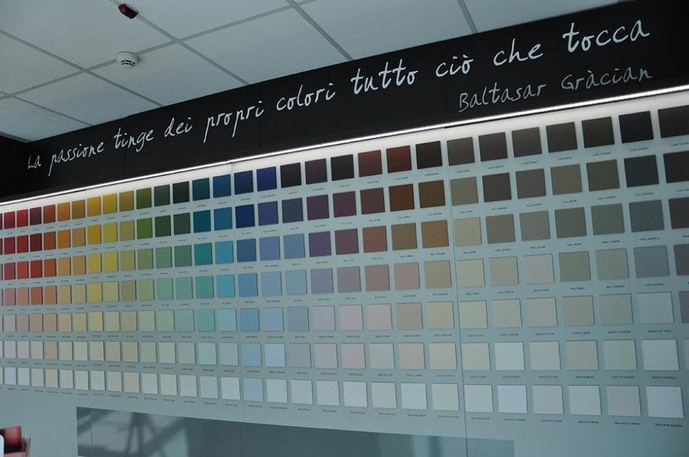 pannello colori per pitture