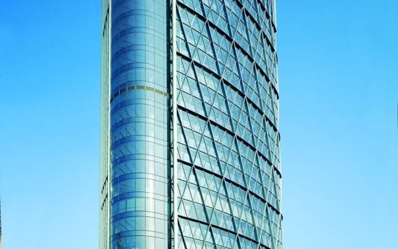 Grattacielo vetro alluminio