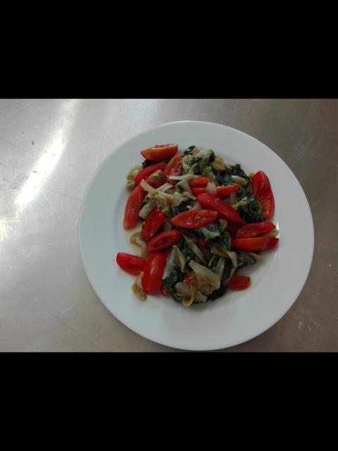 verdure cotte e pomodori
