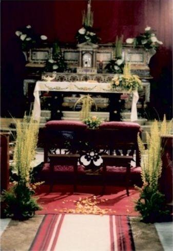 piante per funerali, allestimento floreale funerali