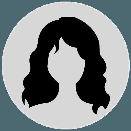Icona donna con capelli lunghi