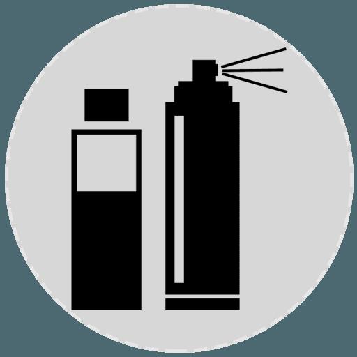 Icona di due bombolette spray