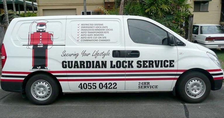 guardian lock services locksmith vehicle
