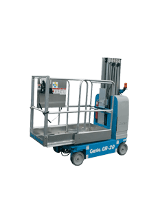 GR-20 one-man scissor lifts hire with non-marking tyres model in Gold Coast