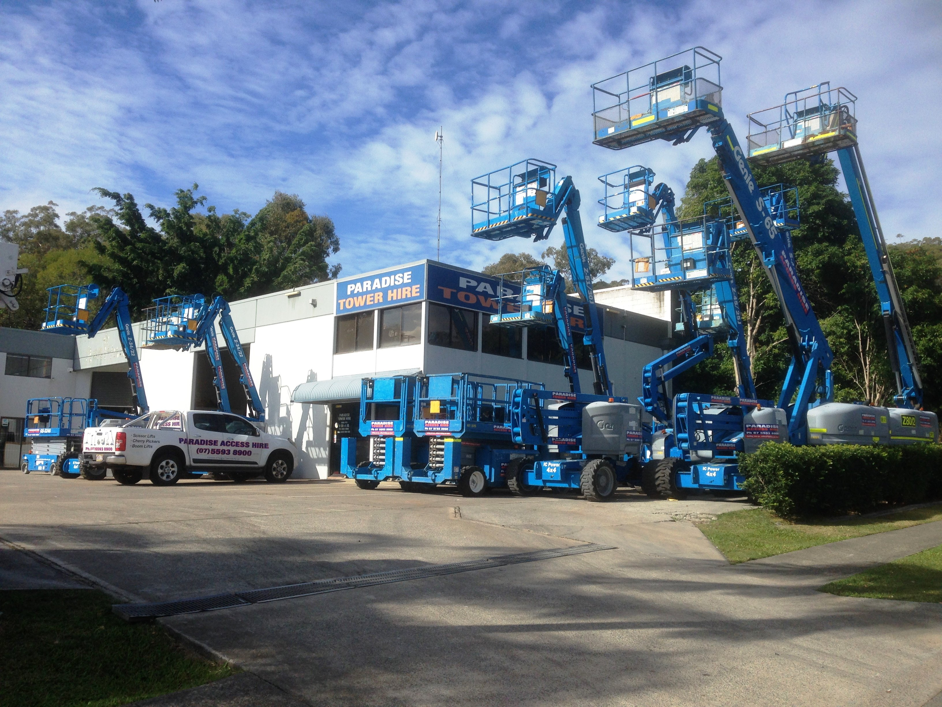 Paradise Tower Hire for experts and high quality Boom lifts and Cherry Picker Services