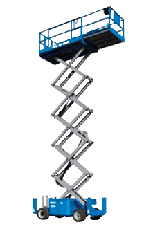 High quality gs-2646 8m scissor lifts with non-marking tyres for hire in Gold Coast