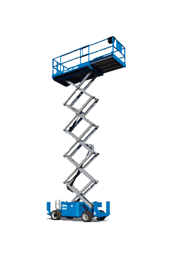 Gs-2668 rt - 8m scissor lift for hire equipment in Gold Coast, Ballina & more