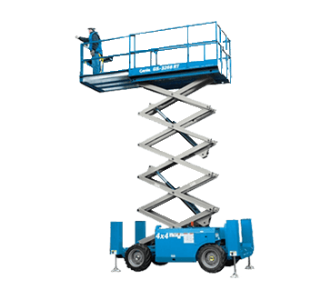 Well maintained gs-3268 rt - 10m scissor lift for hire in Gold Coast and Ballina
