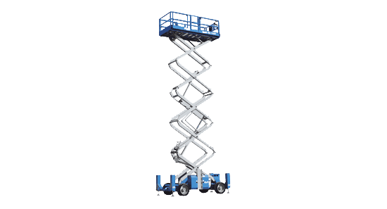 Model Gs-4390 rt - 13m scissor lift for hire in Ballina, Lismore and beyond