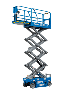 Well maintained gs-1932 6m scissor lifts with non-marking tyres for hire in Gold Coast