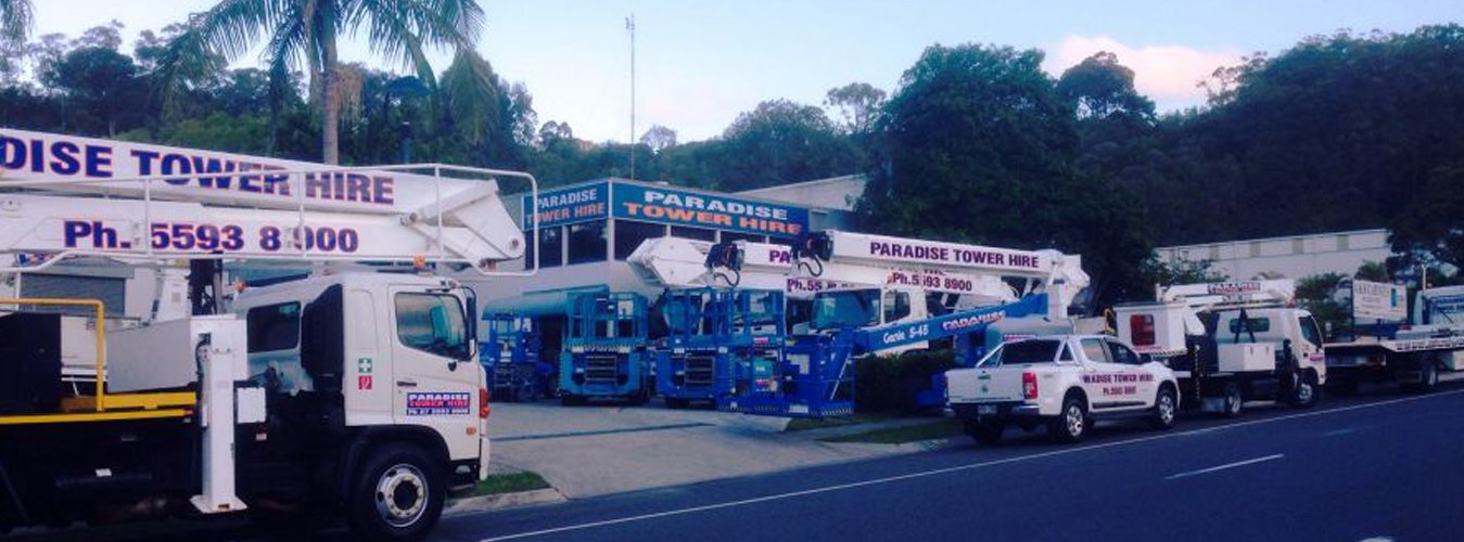 A Fleet of cherry pickers, booms and scissor lift for hire in Gold Coast and Ballina