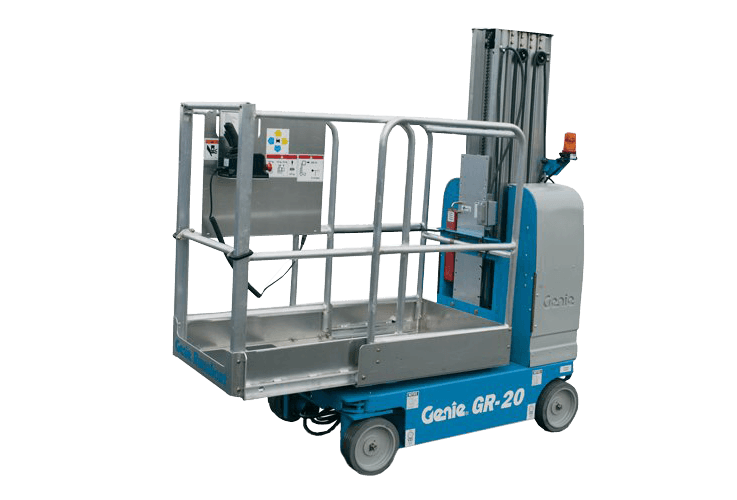 GR-20 one-man scissor lifts for hire with non-marking tyres model in Ballina