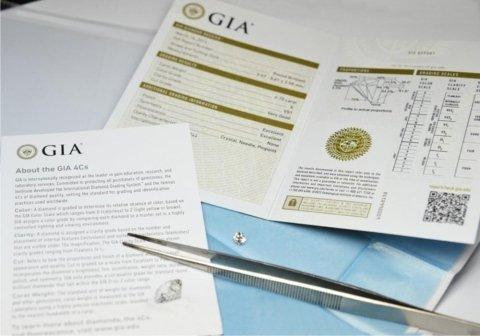 Esempio di certificato Gia