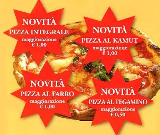pizza al kamut, pizza integrale, pizza al farro, pizze al tegamino