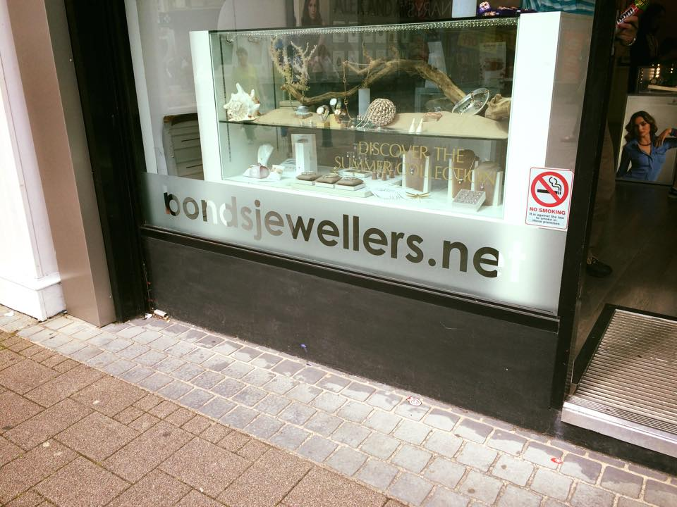 Jewellery shop sign