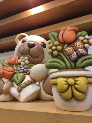 Teddy con mazzo di fiori