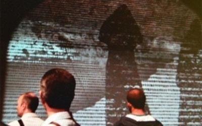 installazione videoproiettore e audio arte contemporanea