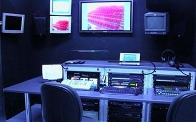 sala controllo audiovisivi