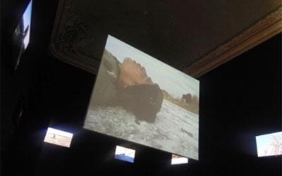 impianto audiovisivo per mostra