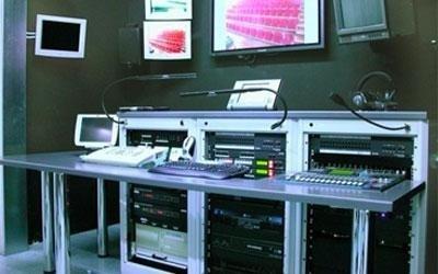 sala controllo audio video