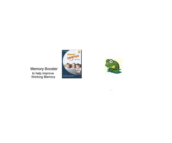 Memory booster to help improve working memory