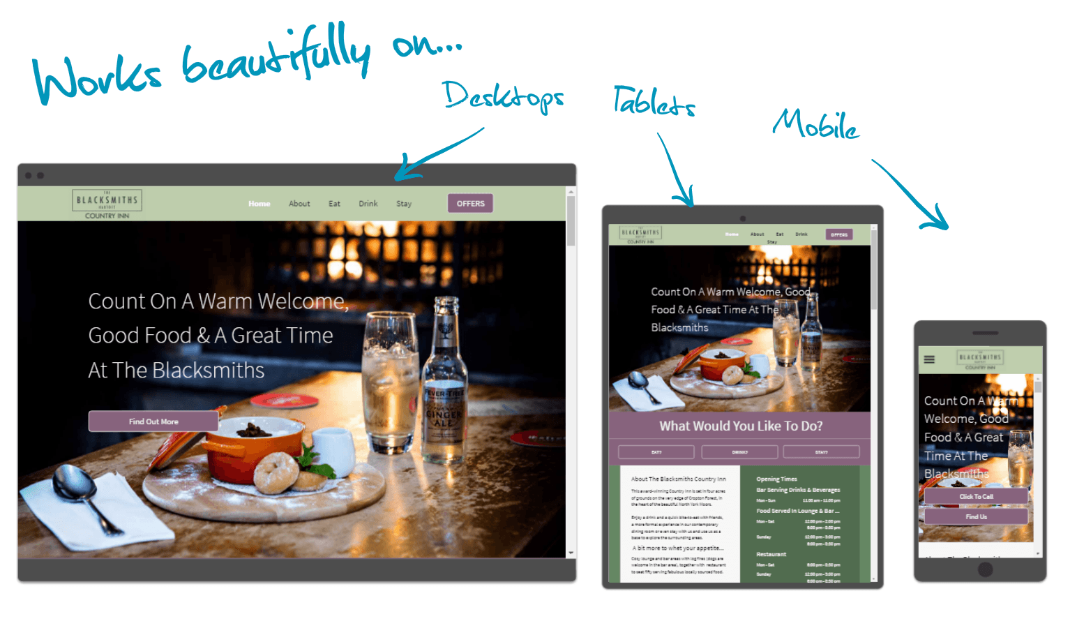 restaurant web design pickering