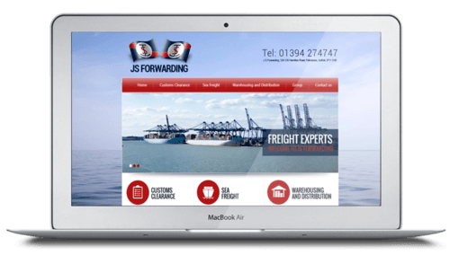 web design - JS Forwarding Felixstowe