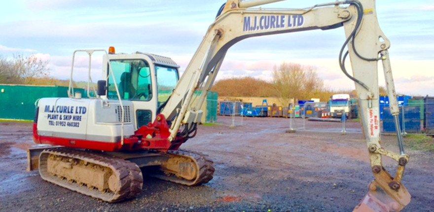 MJ Curle tracked excavator
