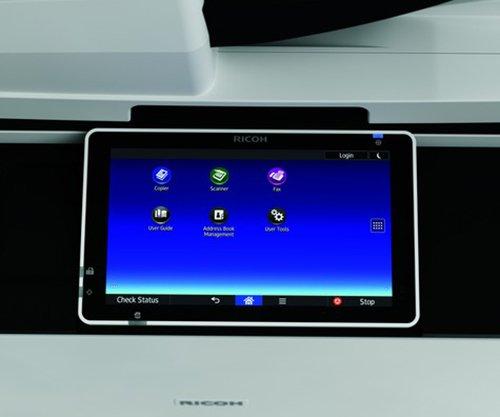 Touch screen a colori di una stampante per ufficio