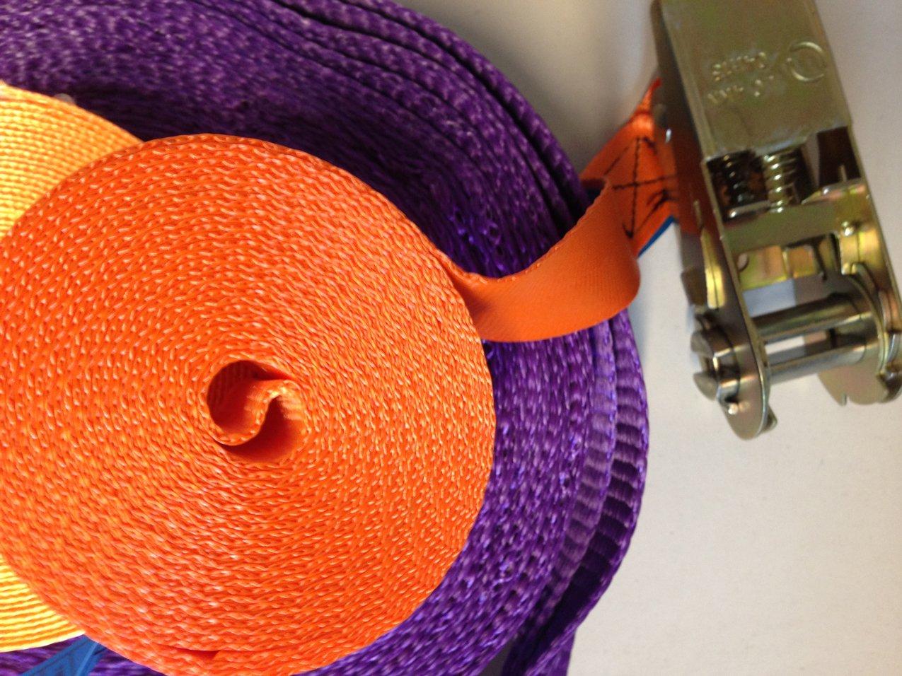 nastri colorati arancione e viola