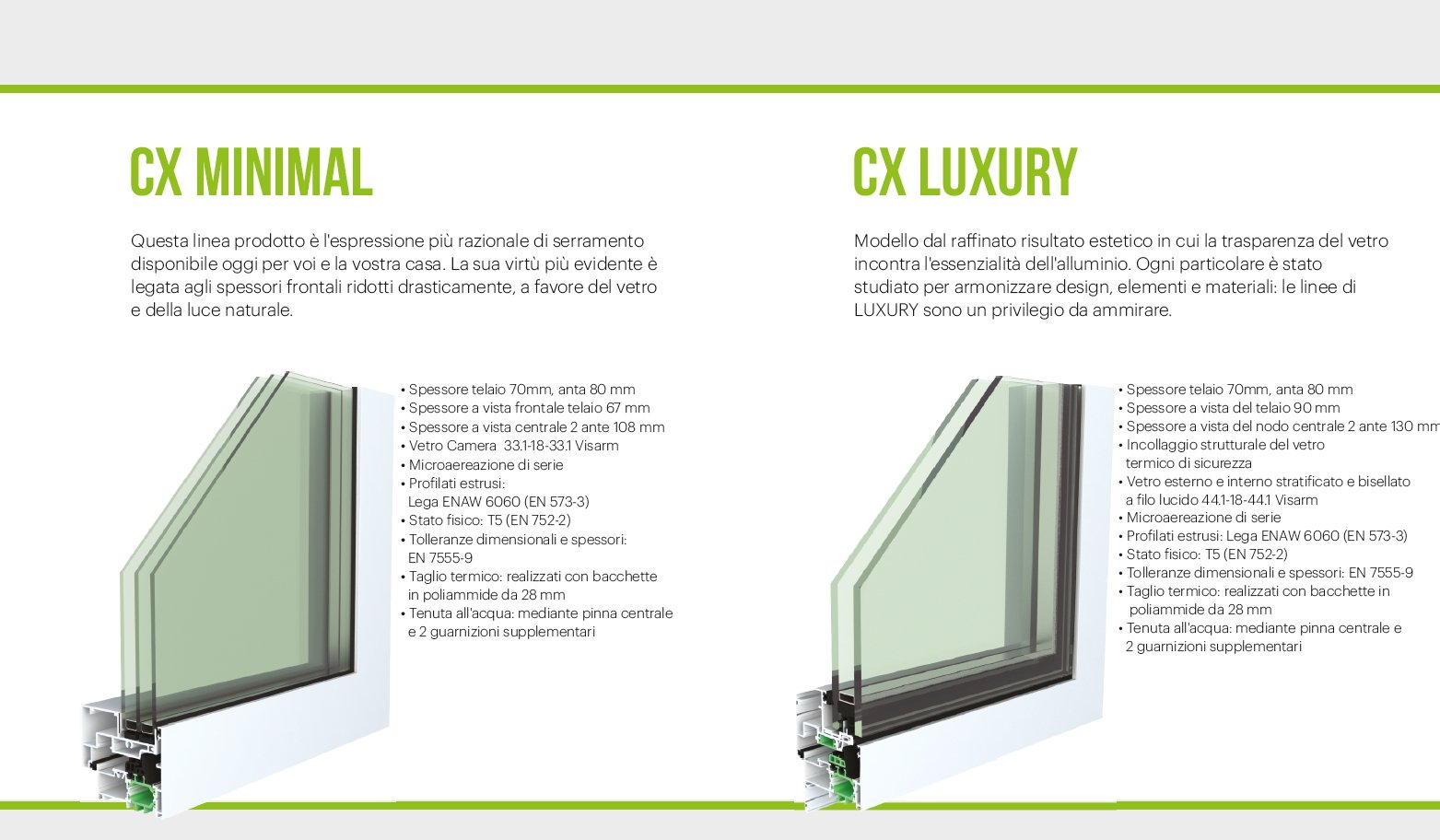 catalogo prodotti-CX MINIMAL-CX LUXURY