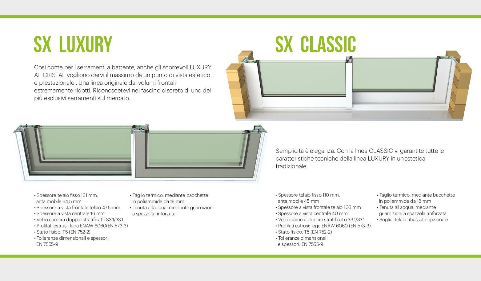 catalogo prodotti-SX LUXURY-SX CLASSIC