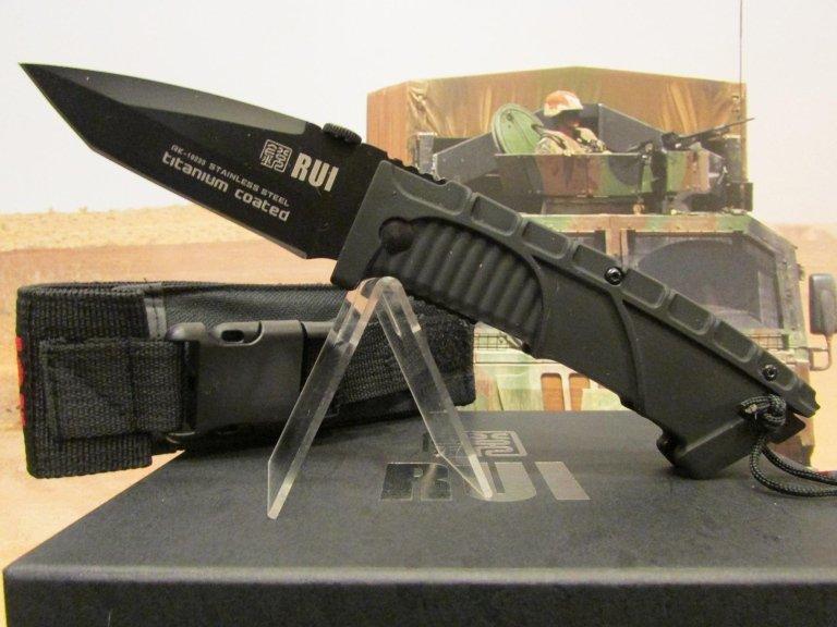 C-RU coltello Rui tactical nero con fodero