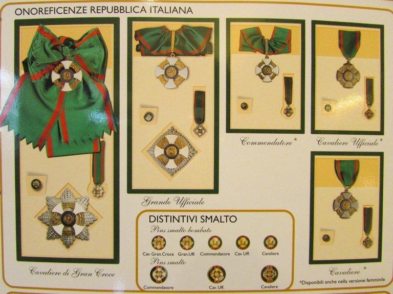 ONOREFICENZE REPUBBLICA ITALIANA