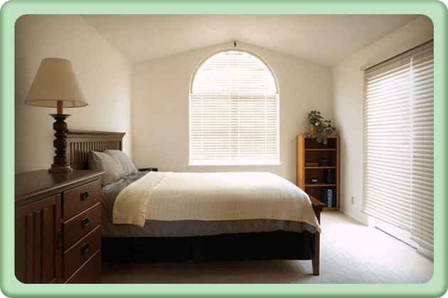 Soft furnishings - Whitehaven, Cumbria, Workington, Egremont, Cockermouth, Maryport - Elliot and Black Ltd - Bedroom with blinds