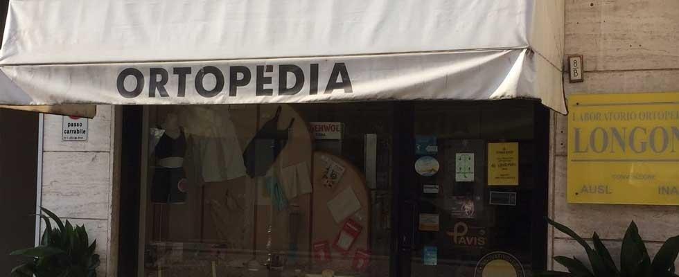 ingresso negozio di articoli ortopedici