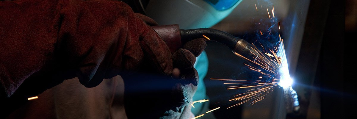 Man works on structural steel fabrication in Melbourne