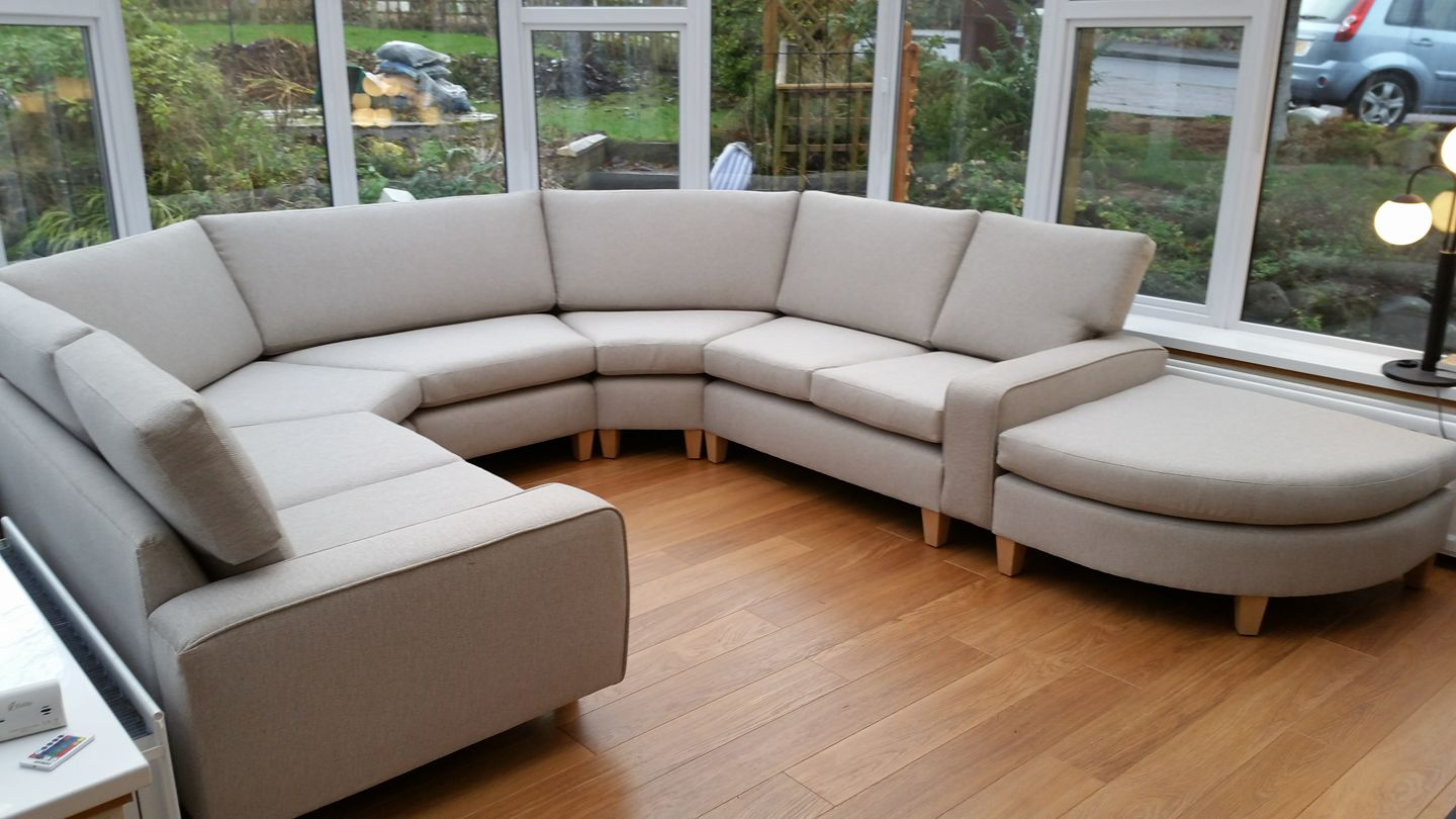 Bespoke media room corner sofa
