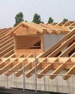costruzione tetto in legno