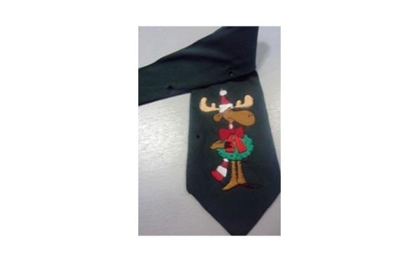 Cravatta ricamata